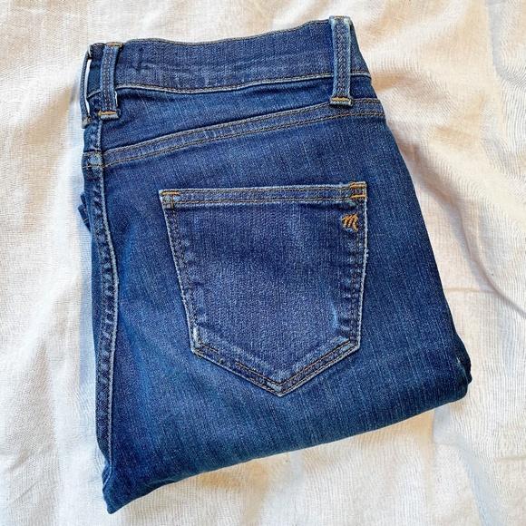 "Madewell Skinny Skinny 8"" Rise Blue Denim Jeans 27"